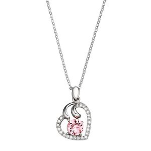 Brilliance Crystal Heart Pendant with Swarovski Crystals