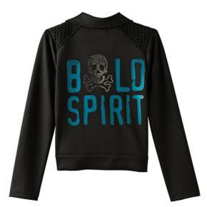 "Disney D-signed Pirates of the Caribbean: Dead Men Tell No Tales Girls 7-16 ""Bold Spirit"" Embellished Moto Jacket"