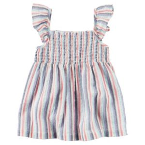 Baby Girl Carter's Striped Smocked Tank Top