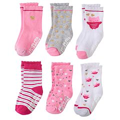 Toddler Girl Stride Rite 6 pkOwl & Bird Crew Socks