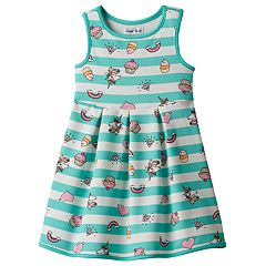 Girls 4-7 Emoji Tank Skater Dress