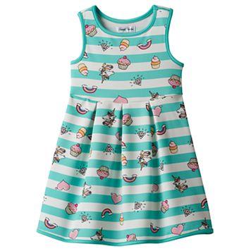 Girls 4-7 Emoji Tank Skater Dress