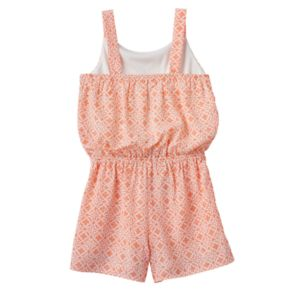 Girls 7-16 My Michelle Embroidered Trim Pattern Romper