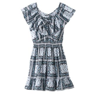 Disney D-signed Pirates of the Caribbean: Dead Men Tell No Tales Girls 7-16 Paisley Printed Popover Dress