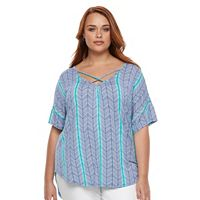 Plus Size Apt. 9® Strappy Dolman V-Neck Top
