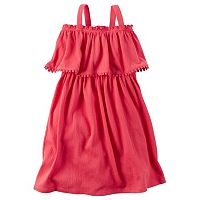 Toddler Girl Carter's Popover Crinkled Gauze Dress