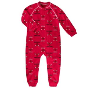 Toddler adidas Chicago Bulls Logo Footed Pajamas