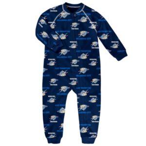 Toddler adidas Oklahoma City Thunder Logo Footed Pajamas