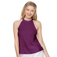 Juniors' SO® Halter Swing Top
