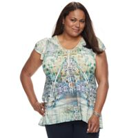 Plus Size World Unity Printed Sublimation Tee