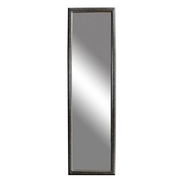 Belle Maison Black Distressed Over-The-Door Mirror