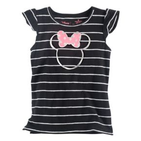 Disney's Minnie Mouse Foil Logo Flutter Tee by Jumping Beans®