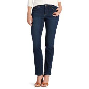 Petite Chaps 4-Way Stretch Straight-Leg Twill Pants