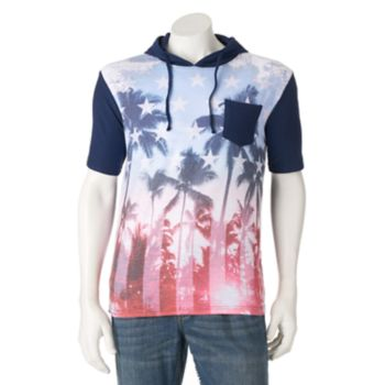 Men's Distortion American Palm Tree Hoodie