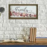 "Stratton Home Decor ""Family Gathers Here"" Framed Wall Art"