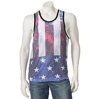 Men's Distortion Flag Tank Top