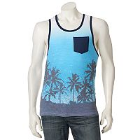 Men's Distortion Palm Tree Tank Top