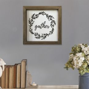 "Stratton Home Decor ""Gather"" Framed Wall Art"