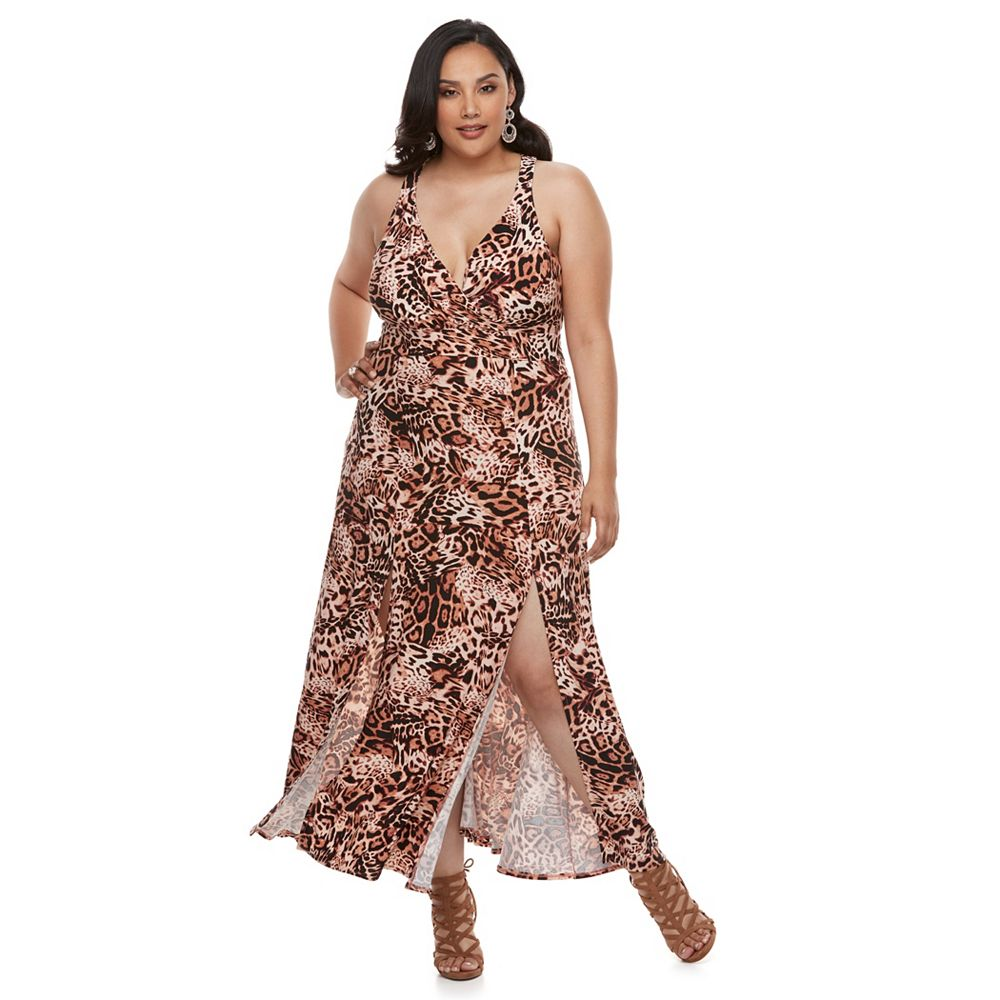 Size Jennifer Lopez Surplice Maxi Dress