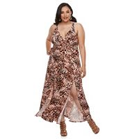 Plus Size Jennifer Lopez Surplice Maxi Dress
