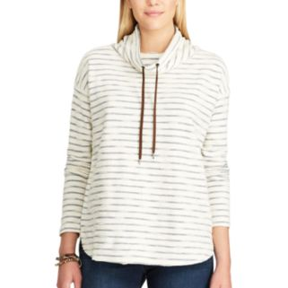 Petite Chaps Striped Terry Pullover
