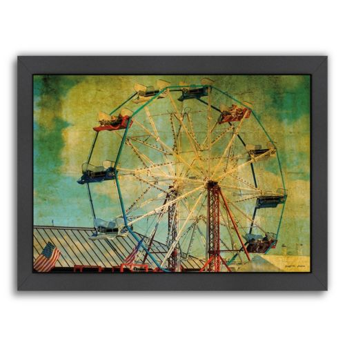 Americanflat Ride The Ferris Wheel Framed Wall Art