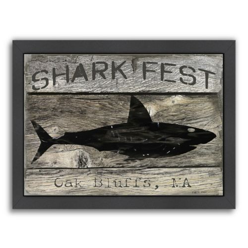 "Americanflat ""Shark Fest"" Framed Wall Art"
