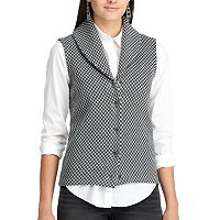 Petite Chaps Checked Sweater Vest