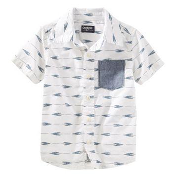Toddler Boy OshKosh B'gosh® Arrow Short-Sleeved Woven Top