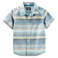 Toddler Boy OshKosh B'gosh® Stripe Short-Sleeved Woven Top