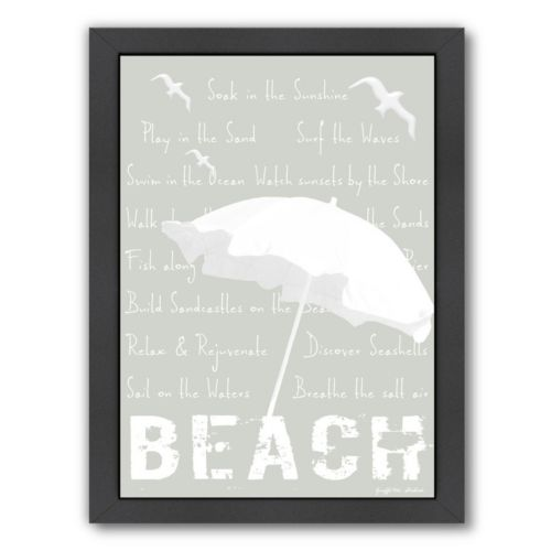 "Americanflat ""Beach"" Framed Wall Art"