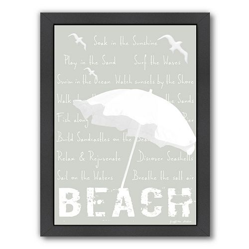 """Americanflat """"Beach"""" Framed Wall Art"""
