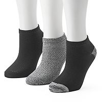Women's Cuddl Duds 3 pkPique Low-Cut Socks