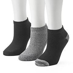 Women's Cuddl Duds 3-pk. Pique Low-Cut Socks