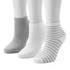 Women's Cuddl Duds 3 pkTwisted Ankle Socks