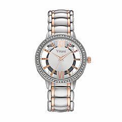 Vivani Women's Crystal Two Tone Watch