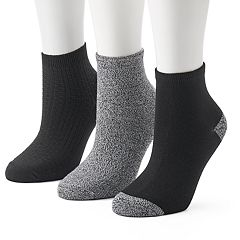 Women's Cuddl Duds 3-pk. Textured Ankle Socks