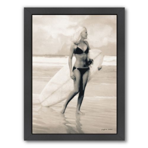 Americanflat Surfboard Required Framed Wall Art