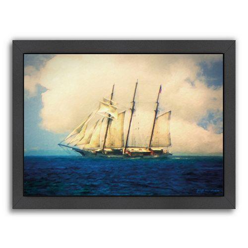 Americanflat Tall Ship Framed Wall Art