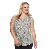 Plus Size Croft & Barrow® Pleated Tank