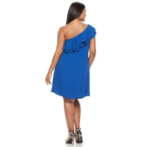 Plus Size Apt. 9 One Shoulder Ruffle Dress