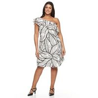 Plus Size Apt. 9 One Shoulder Ruffle Dress
