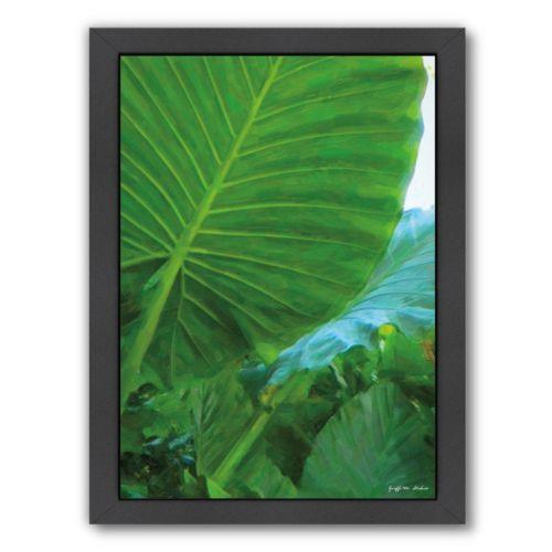Americanflat Tropical Leaves Framed Wall Art
