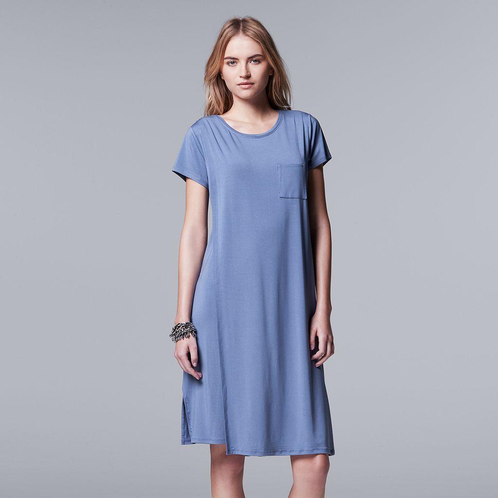 Women's Simply Vera Vera Wang Double Layer T-Shirt Dress