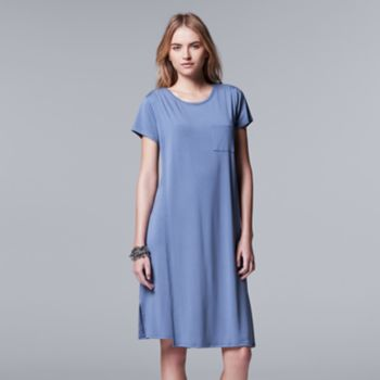 Women's Simply Vera Vera Wang Double Layer T-Shirt Dress