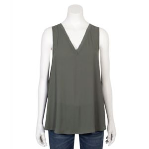 Juniors' Grayson Threads Lace-Up Tank