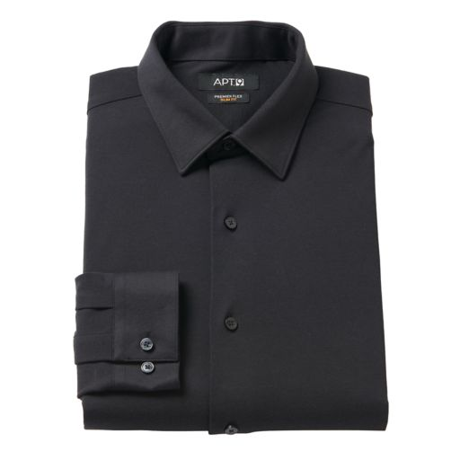 Men's Apt. 9® Premier Flex Slim-Fit Stretch Knit Dress Shirt