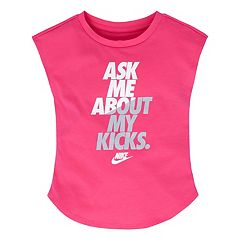 Girls 4-6x Nike 'Ask Me About My Kicks' Graphic Tee