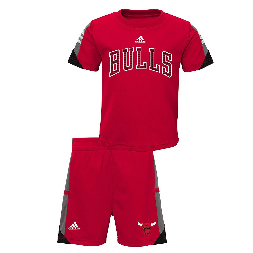 Toddler adidas Chicago Bulls Possession Tee & Shorts Set