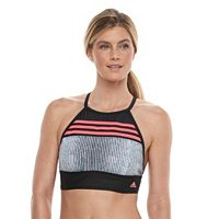 Women's adidas Get Striped Bikini Crop Top